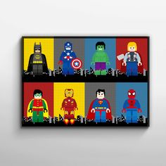 Hey, I found this really awesome Etsy listing at https://www.etsy.com/listing/214715343/superhero-lego-wall-art-poster-digital