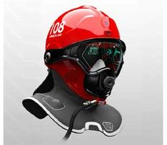 Futuristic new helmet helps firefighters see through smoke. C-thru's vision system integrates several technologies to help firefighters, such as a head-mounted projection display, optical thermal camera, cloud computing, selective active noise cancellation and target acquisition.