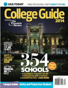 Look who made the COVER ofUSA TODAY's College Guide 2014, powered by The Princeton Review!