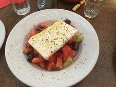 Kreikkalainen salaatti. Feta, Dairy, Bread, Cheese, Bakeries, Breads