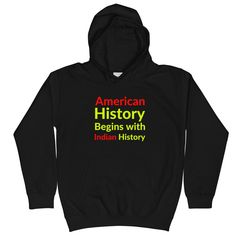 American History Begins with Indian History - Jet Black / XL