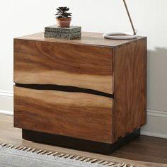 Metal Nightstand, Modern Bedside Table, Side Tables Bedroom, Modern Craftsman, Walnut Veneer, Furniture Deals, Wood And Metal, Coffee Beans, Drawers