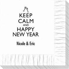 Keep Calm and Happy New Year Napkins