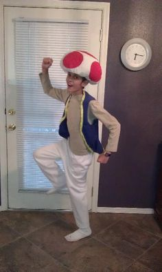 Toad from Super Mario Bros. Super Easy, No Sew, Homemade Halloween Costume - InfoBarrel