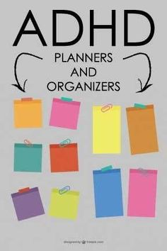 ADHD and ADD Planners and Organizers. Tools, tips, and tricks to using planners and organizers for people with ADHD and ADD.