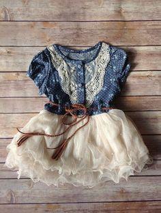 Navy Ivory Toddler Girls Tutu Dress Vintage by AvaMadisonBoutique