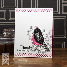 Thanks a whole big bunch card made with Lil' Inker Designs stamps and dies