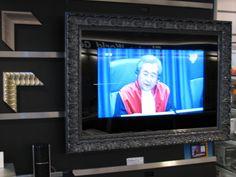 Koop een schilderijlijst en maak een schilderij van je TV. Www.schilderijlijsten.com