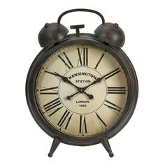 IMAX Matthews Oversized Clock - 89050. IMAX Matthews Oversized Clock - 89050 Nearly three feet high, Matthews oversized clock adds personality to any room. This table clock is finished in an aged black finish and has an antiqued face design. Product Specifications.. . See More Clocks at http://www.ourgreatshop.com/Clocks-C722.aspx