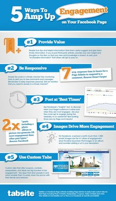 5 Key Tips for Facebook Page Marketers - great infographic by Tabsite.com featured on PamMarketingNut.com.