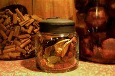 Primitive Jar filled with potpourri:$14.95