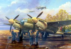 Ww2 Aircraft, Fighter Aircraft, Military Aircraft, Fighter Jets, Air Force Bomber, De Havilland Mosquito, Ww2 Planes, Great Paintings, Royal Air Force