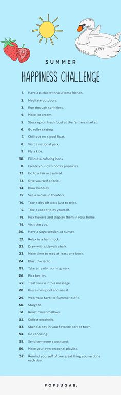Take Our 2017 Summer Happiness Challenge!