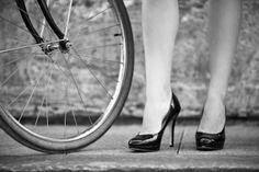 Saint Germain Paris Woman Bike Rue du Bac