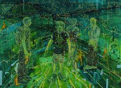 Jon Cattapan | Milani Gallery Milani, Contemporary Paintings, Modern Art, Artworks, Plant Leaves, Students, Studio, Gallery, Artist