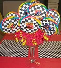 Cars Lollipop Bouquet