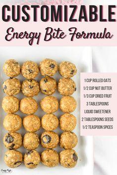 Healthy Bars, Healthy Dessert Recipes, Vegan Snacks, Clean Eating Recipes, Healthy Snacks, Snack Recipes, Healthy Eating, Desserts, Sweet Recipes