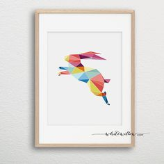Origami Animal Print GEOMETRIC Art instant by WhiteWillowPaper