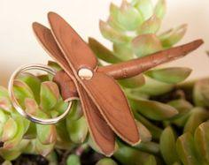 Feuille porte-clés porte-clés en cuir par GullandValleyLeather