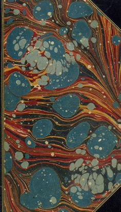 italian marbled paper.