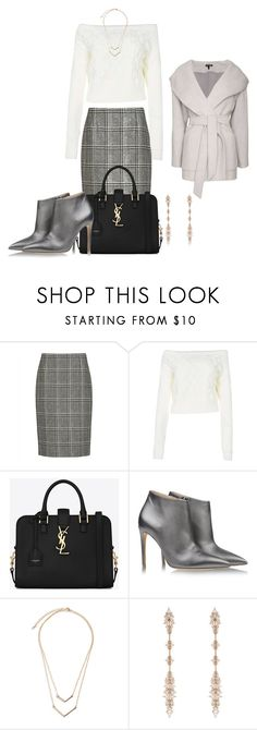 """""""Untitled #1074"""" by rkdk1101 ❤ liked on Polyvore featuring Jaeger, Boohoo, Yves Saint Laurent, Ralph Lauren, Fernando Jorge and Intermix"""