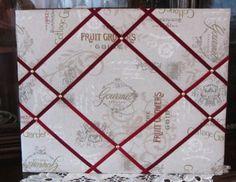 Pinnwände - Pinnwand, Memoboard, Wandboard, Merker - ein Designerstück von patch-lissi bei DaWanda