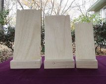 Necklace Display Stands Set 3 Size Unfinished Wood Jewelry Craft Show Handmade Durable Portable Craft Display