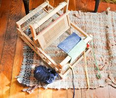 Vintage Brio Wooden Table Top mini Loom for small projects - Folding Loom by drowsySwords on Etsy