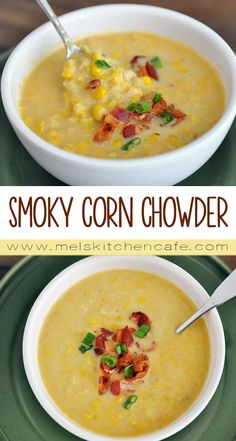 This Smoky Corn Chowder uses basic refrigerator and  pantry ingredients, and it manages to be lighter than a thick, cream-based soup.