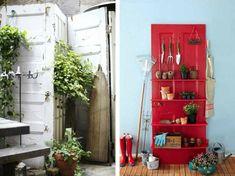 idées-déco-jardin-vieilles-portes-paravent-rustique-support-outils-jardinage