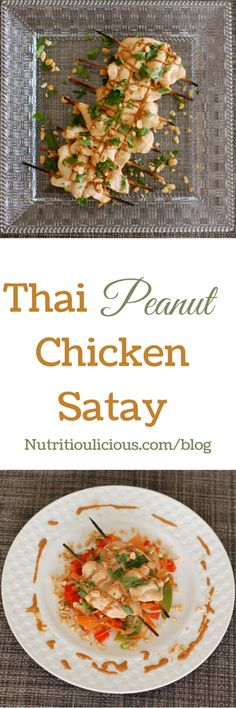 Thai chicken satay with peanut sauce marries the heat of sriracha with ...