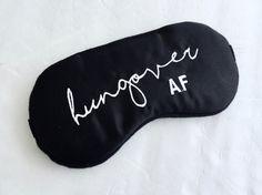 Hungover Satin Sleep Mask Shameless Sleep Mask by ShushBear