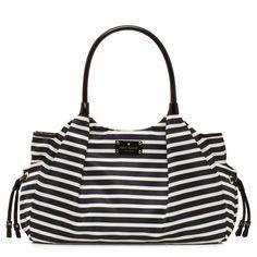 kate spade | designer diaper bags - nylon stripe stevie baby bag @Jessica Higgins