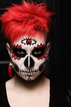 Wowza! #Day_of_the_Dead #costume #makeup #Halloween