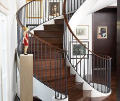 How to update steps & where to shop for materials. Staircase Railings, Stairs, Door Trims, Baseboards, Beautiful Interiors, Built Ins, Carpentry, Interior And Exterior, Building A House