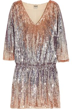 HAUTE HIPPIE  Sequined mini dress. LOVE.