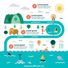 Wasserkreislauf Infografik Kostenlose Vektoren