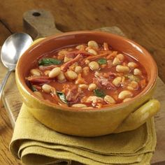 Shaker Bean Soup Recipe - Taste of Home  Makes a huge batch and I was the only one who liked it.