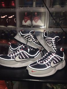 d62b61109105 Nike Air Zoom Spiridon  16 Black White-Wolf Grey Size US 9 Men