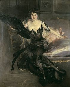 She and her husband bought their way into society in Britain, accumulating houses and furniture and having themselves painted, as in this wonderful portrait, by the fashionable Giovanni Boldini. Description from spectator.co.uk. I searched for this on bing.com/images