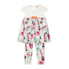 b5e5241f71e71c Baker by Ted Baker Babies off white dragonfly printed top and leggings set