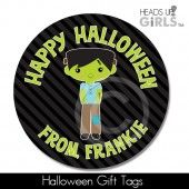 Halloween Gift Tags with Frankenstein 2