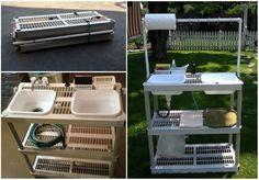 Lichtgewicht en stapelbaar campingkeukenrekje DIY zelfbouw