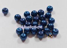 perlas cristal lacado azul electrico