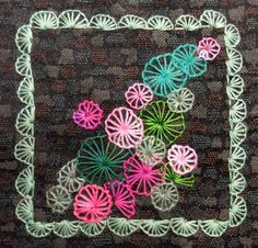 Buttonhole Wheel embroidery stitch by Terry Whyte | Today in Kenogami: Take a Stitch Tuesday
