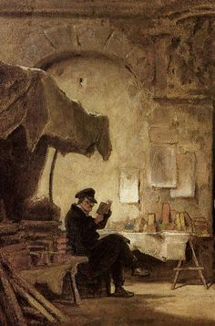 """The Antiquary"" ... by Carl Spitzweg"