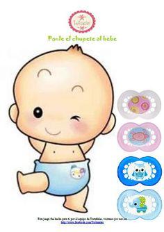 juego baby shower ponerle chupon - Buscar con Google