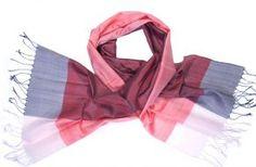Handwoven silk fair trade scarf from Cambodia