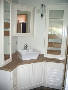 Another very cool corner vanity