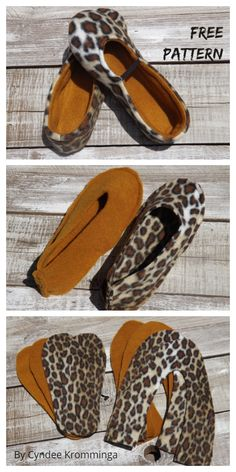 Cozy Shoes by Sewingtimes Sewing Slippers, Felted Slippers, Crochet Slippers, Sewing Patterns Free, Free Sewing, Pattern Sewing, Shoe Pattern, Fabric Houses, How To Make Shoes